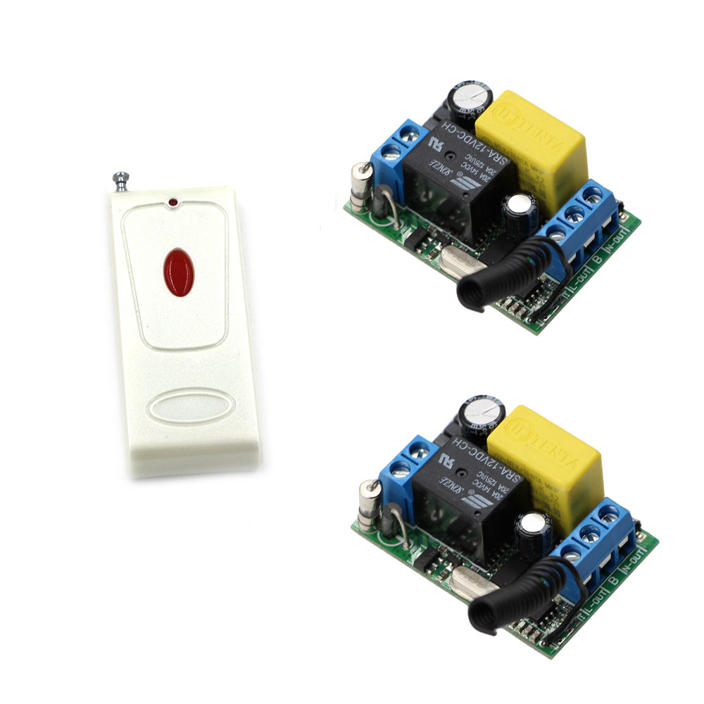 AC 220V Wireless Remote Control Light Switches Remote Power Switch Radio Switch 1CH Relay Receiver + One Button Transmitter 220v 1ch radio wireless remote control switch 8 receiver