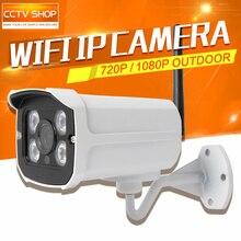 HD 1.0MP 2-МЕГАПИКСЕЛЬНАЯ WI-FI Камеры Видеонаблюдения Открытый 3.6 мм Объектив Ночного Видения Безопасности Пуля 720 P 1080 P IP камеры Беспроводные
