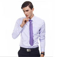 High Quality Spring Shirts Long Sleeve Casual Business Attire 2017 Solid Color Shirts Men Fashion 60