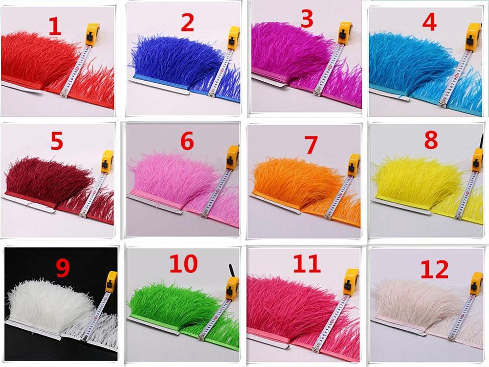 En gros 10 mètres-haute qualité ruban d'autruche naturelle 4-6 pouces/10-15 cm de large, plumes de ruban 34 couleurs au choix