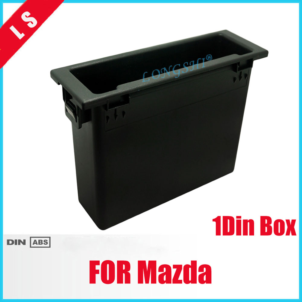 1DIN Car Stereo Radio Refitting Dash Montaggio Installazione Trim Fascia Console Storage Box Spacer Per Mazda, 1 din
