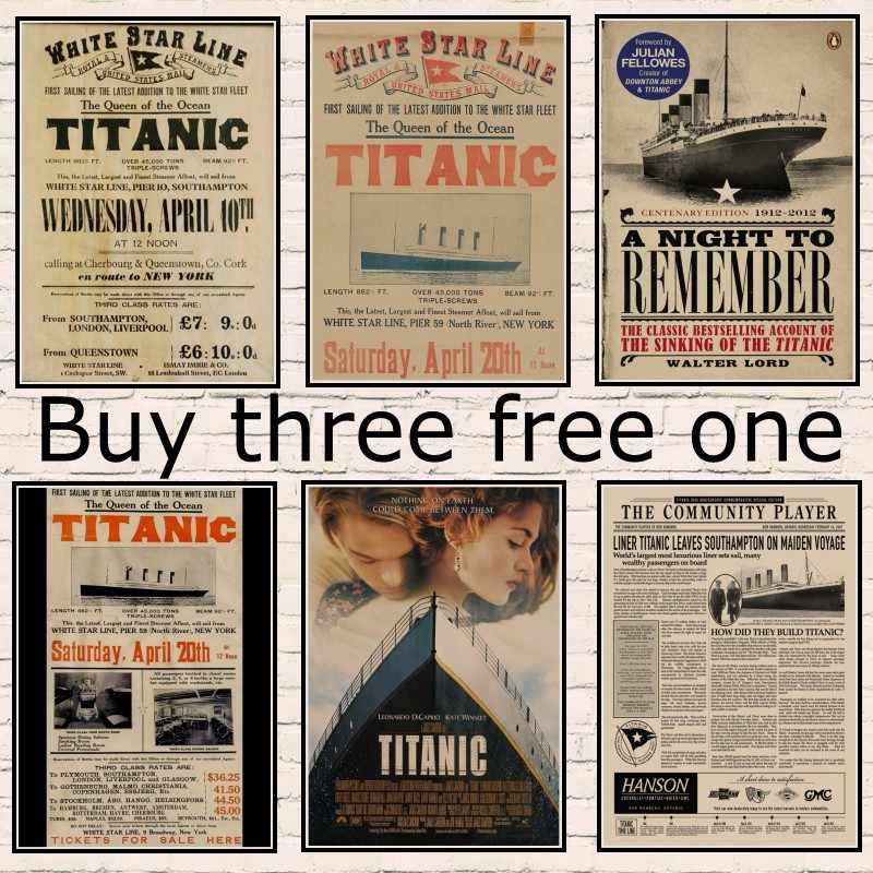 The New York Times Titanic's return voyage from New York to Europe Poster Titanic Shipwreck Old Newspaper Retro Kraft Paper