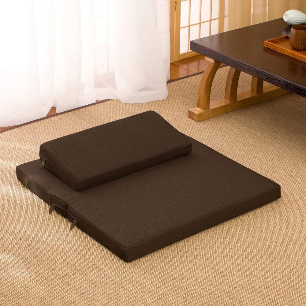 Kneel Yoga Meditation Cushions Tan Zabuton Zafu Set Floor Sitting Seats