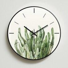 Flower Metal Wall Clock Vintage 30cm Modern Design Clocks Decorative Duvar Saati Digital Silent Nordic 2