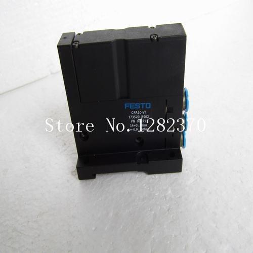 [SA] Genuine original special sales FESTO connector CPA10-V1 spot 173520 --2pcs/lot [sa] new original special sales festo regulator lr 1 8 do mini spot 162590 2pcs lot