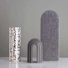 High Quality Jingdezhen Porcelain Vase Nordic Style Ceramic Vases  Desktop Crafts Wedding Home Decoration Accessories 25