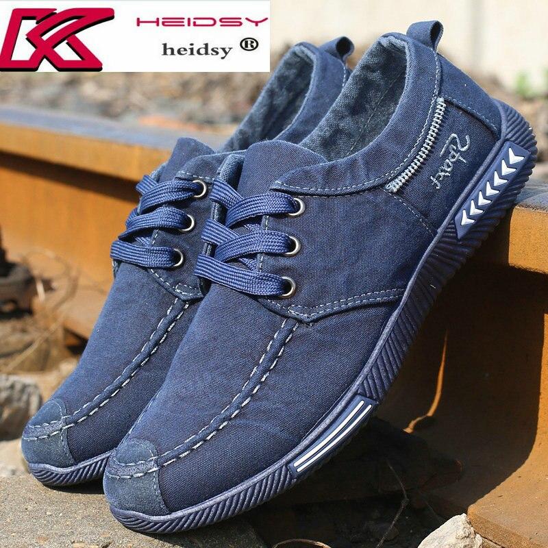 De la lona de los hombres Zapatos de encaje zapatos de los Hombres Nuevo 2018 caminar al aire libre transpirable hombre calzado primavera otoño