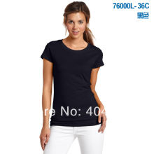 Mini wholesale!50%-60% off shipping cost!women custom shirts ,women T shirts,print your logo,100% Cotton,25colors,US size