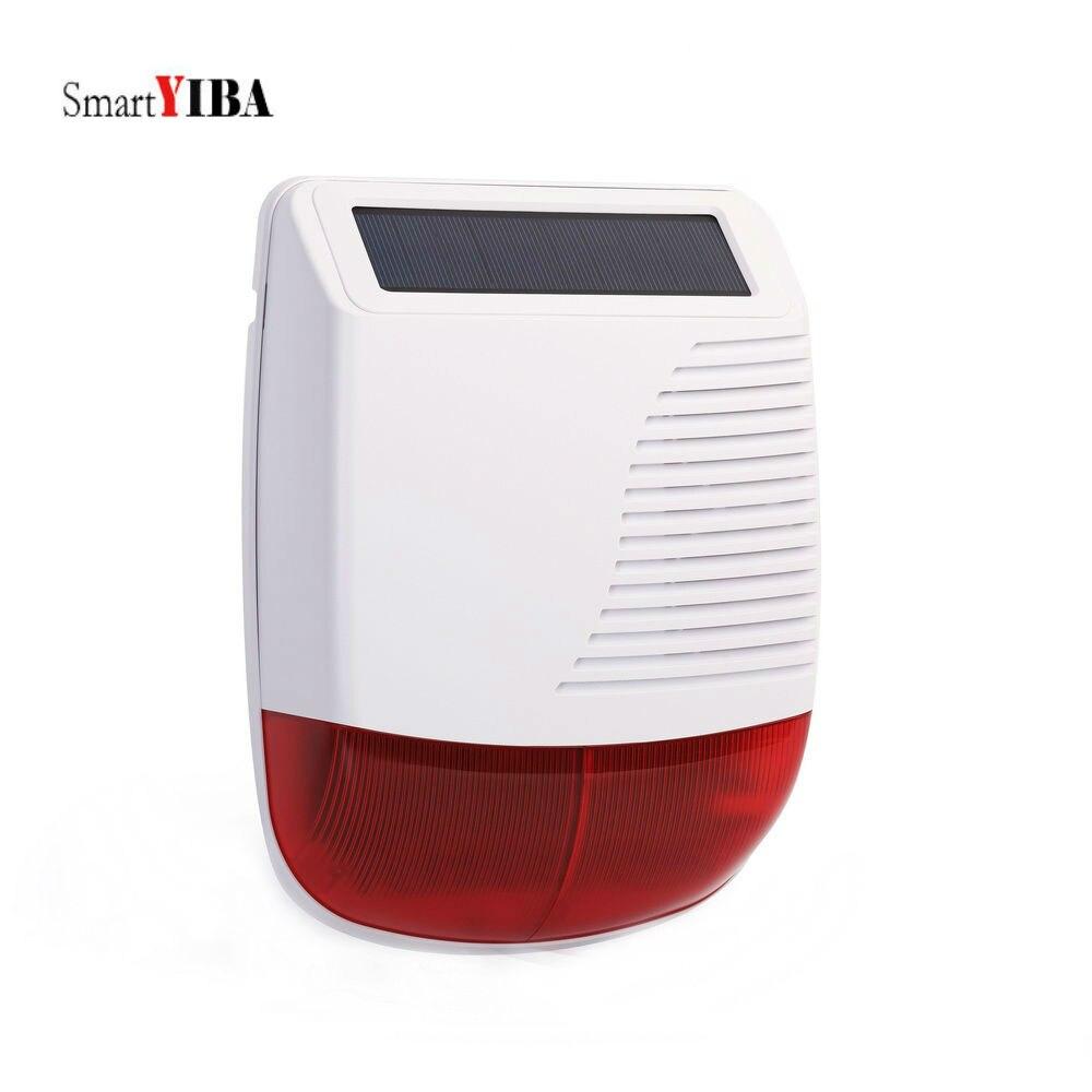 Sirène d'alarme étanche à la pluie SmartYIBA sirène extérieure sirène stroboscopique à énergie solaire sirène stroboscopique étanche sans fil et sirène Flash