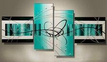 Hohe Q. Abstrakte Ölgemälde auf leinwand blau grün hand malen billig wanddekoration gemälde multi panel leinwand bildergalerien