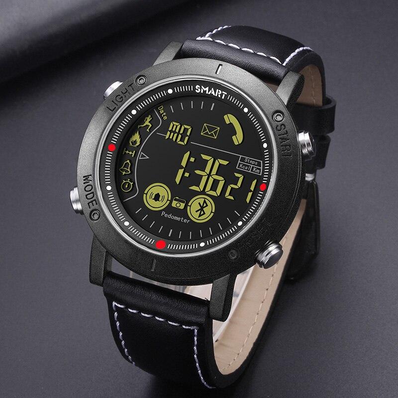 Новый человек цифровые часы флагманский прочный Smartwatch 33-месяц временем ожидания Смарт часы для IOS и Android