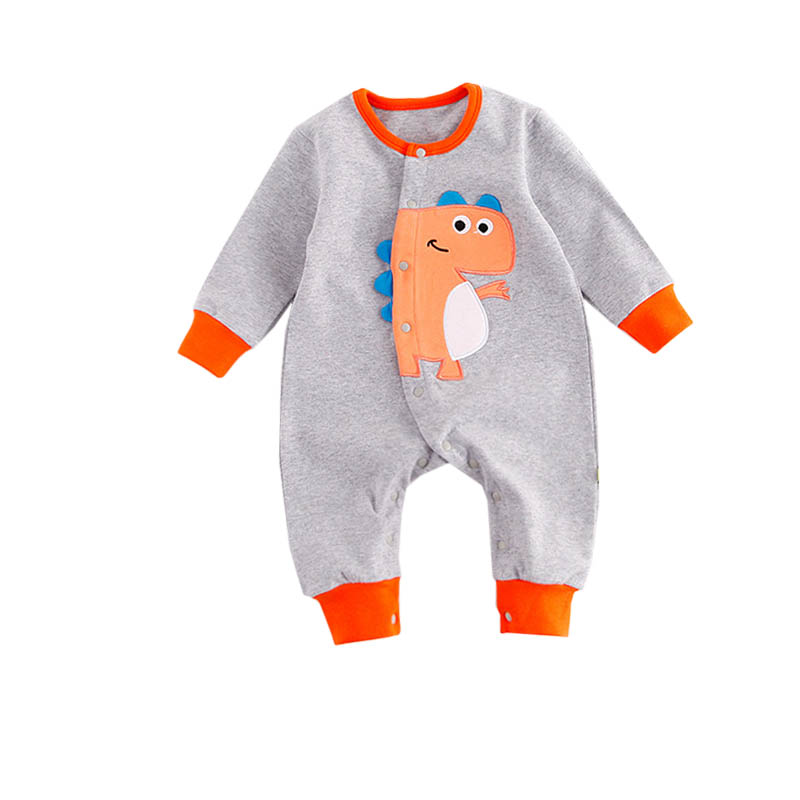 Toddler Newborn Baby Boys Girls Jumpsuit Dinosaur Print Rompers Clothes Long sleeve Baby Rompers Casual Comfortable Outfits newborn baby girls rompers fashion jeans long sleeve angel wings leisure body suit clothing toddler jumpsuit infant boys clothes