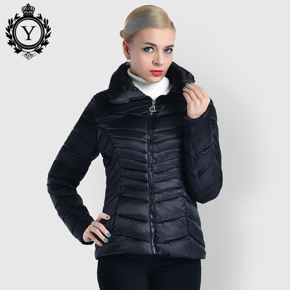 COUTUDI New Arrival 2017 Women Coat Winter Collection Warm Jacket Short Solid Black Female Parka and Coats Slim Women's Clothing