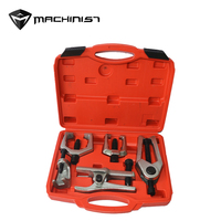 5pcs Front End Service Tool Kit Ball Joint Separator Pitman Arm Tie Rod Puller Undercar Tool Set Auto Repair Equipment