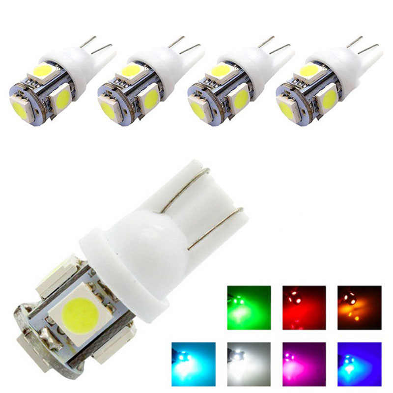 1pcs T10 LED W5W 5050 5SMD 192 168 194 White Lights LED Car Light Wedge Lamp Bulbs Super Bright DC 12V License Plate Light DR