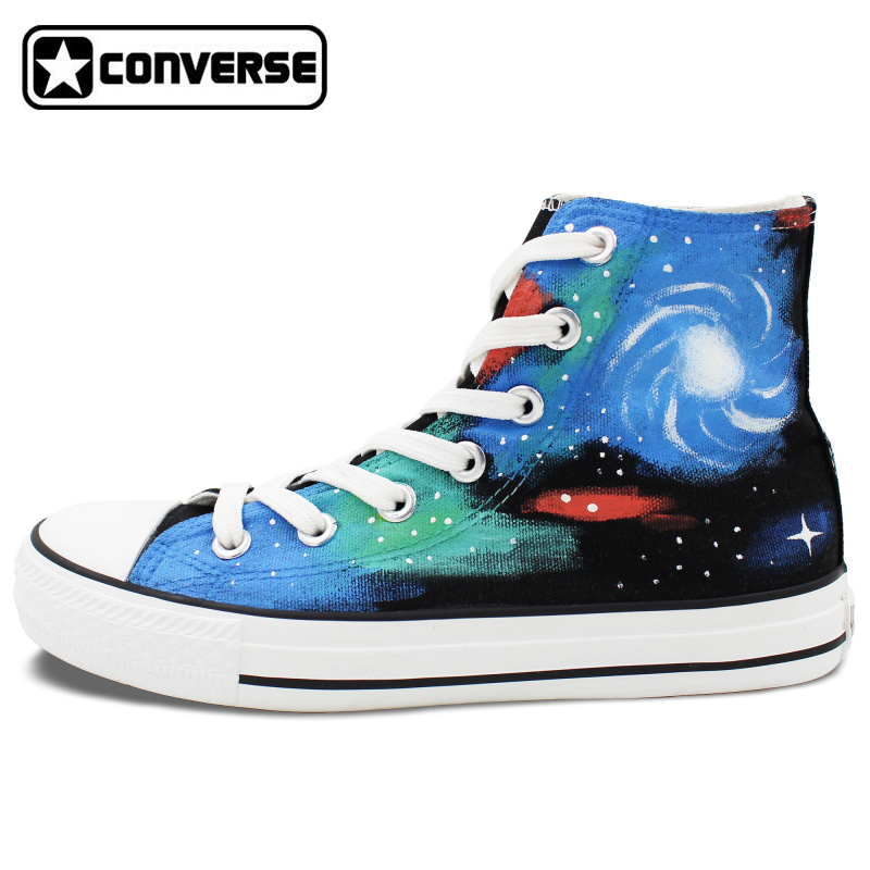 Hand Painted Shoes Women Men Converse All Star Galaxy Nebula Original Design High Top Canvas Sneakers Brithday Gifts