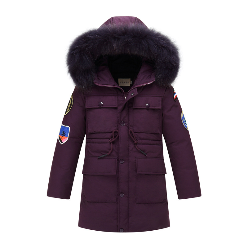 2017 New Winter Boys Duck Jacket Coat Outerwear Boy Thick Hooded White Duck Down for Children Boys Thicker Warm Down Jacket russia winter boys girls down jacket boy girl warm thick duck down