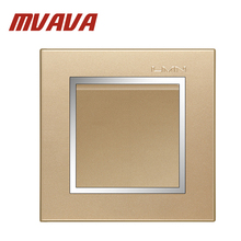 New Arrival MVAVA Hot Sale Decorative champagne gold Chromed Frame Panel 16A 250V Electrical light wall switch 1 gang way