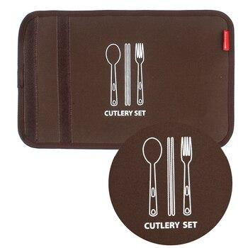 набор посуды для кемпинга | 12 шт./компл. портативные палочки вилка ложка из нержавеющей стали походные столовые приборы посуда с сумкой для хранения