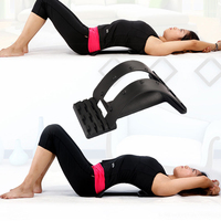 Back Massage Waist Neck Fitness Equipment Stretch Relax Lumbar Support Stretcher Mate Spine Pain Relief Chiropractic