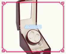 High Quality 2 3 Striped Wine Red White Watch Winder Wood Case Box Carbon Fiber PU