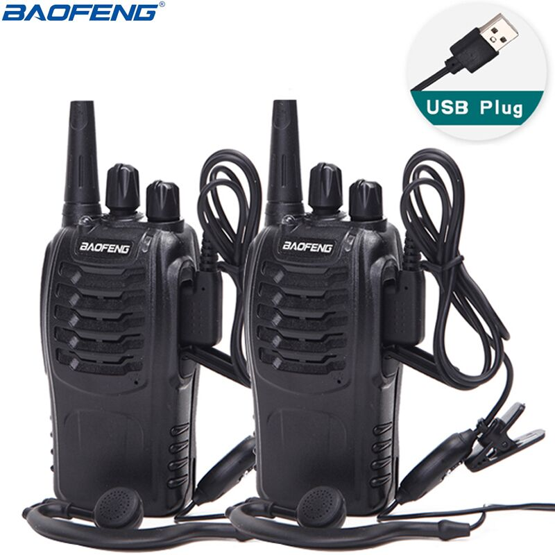 2Pcs Baofeng BF-888S Mini Walkie Talkie Portable Radio CB Radio BF888s 16CH UHF Comunicador Transmitter Transceiver(China)