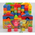 New DIY 85 Pieces Creative  Building Block Sets spongebob Plastic Block Set Children Assembled Model Educational Toys