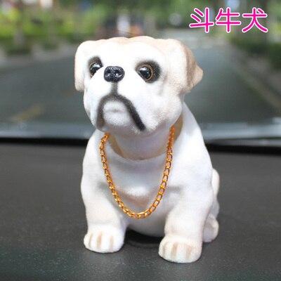 Mignon secouant chien chien dessin animé voiture créative poupée décorations votre tête chien dessin animé poupée décoration créative balançoire bouledogue statue
