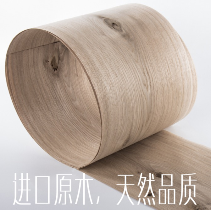 Length 2 5Meters Thickness 0 52mm Width 16 20cm Natural Knots White Oak Wood Veneer
