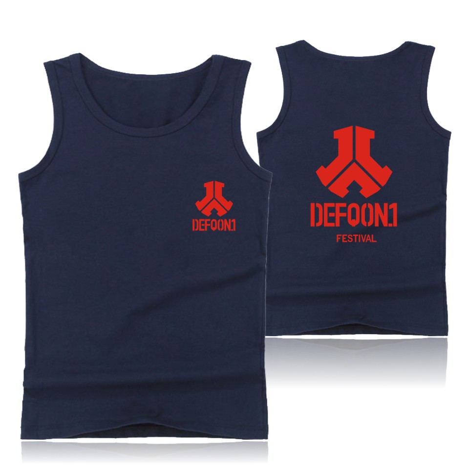 Defqon.1 Streetwear Vest Music Festival Tank Tops Bodybuilding Gym Clothing Men/Women Printing Workout Plus Size image