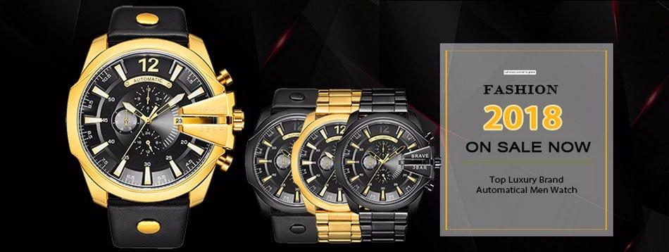df050034a رجال اليد الهيكل العظمي ساعة الذكور حزام جلد خمر الذهب العتيقة steampunk  عارضة الميكانيكية