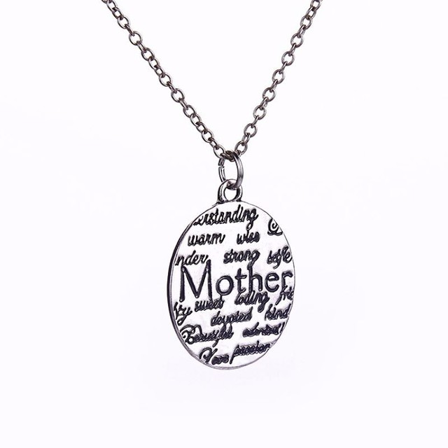 Wholesale fashion mother circle gift vintage silver engraved wholesale fashion mother circle gift vintage silver engraved letters pendants charms personalized necklaces hand stamped jewelry aloadofball Choice Image