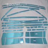 Stainless Steel Full Car Window Sill Frame A B C Center Pillar Trim Stickers For Ford EcoSport 2013 2014 2015 Car Accessories