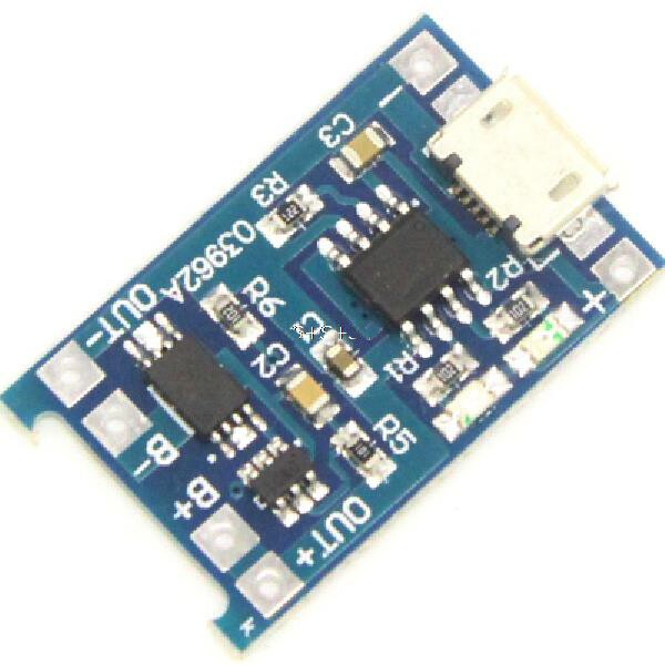 <font><b>5V</b></font> Micro <font><b>USB</b></font> 1A 18650 Lithium Battery Charging Board Protection Charger Module for Arduino Diy Kit image