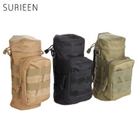 SURIEEN Military Molle Pouch Tactical Canteen Bag Sport Kettle Holder Outdoor Camping Hiking Portable Travel Water