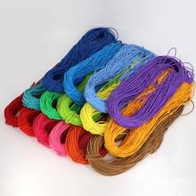 2,5 мм цветная Высококачественная эластичная лента круглая эластичная канатная Резиновая лента шнур эластичная линия сделай сам для шитья ювелирных изделий Wh