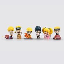 цена на 6pcs/Set 6cm Anime Naruto Action Figures Toys Uchiha Sasuke Uzumaki Naruto Mini Model Dolls Collectable For Kids Birthday Gifts