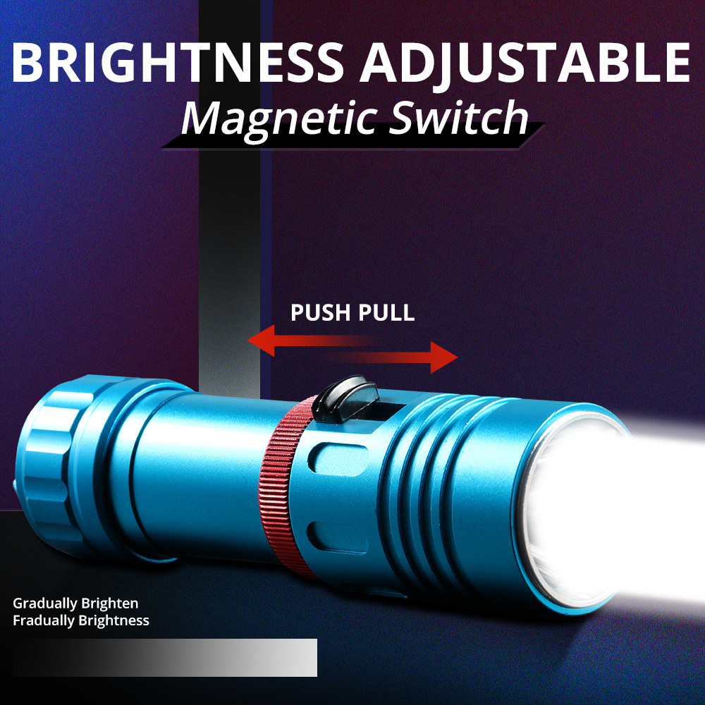 Image 4 - 15000 Lumens L2 Professional Diving flashlight Scuba Torch LED 200M Underwater Flashlights led Powerful Dive lamp 18650 or 26650-in LED Flashlights from Lights & Lighting