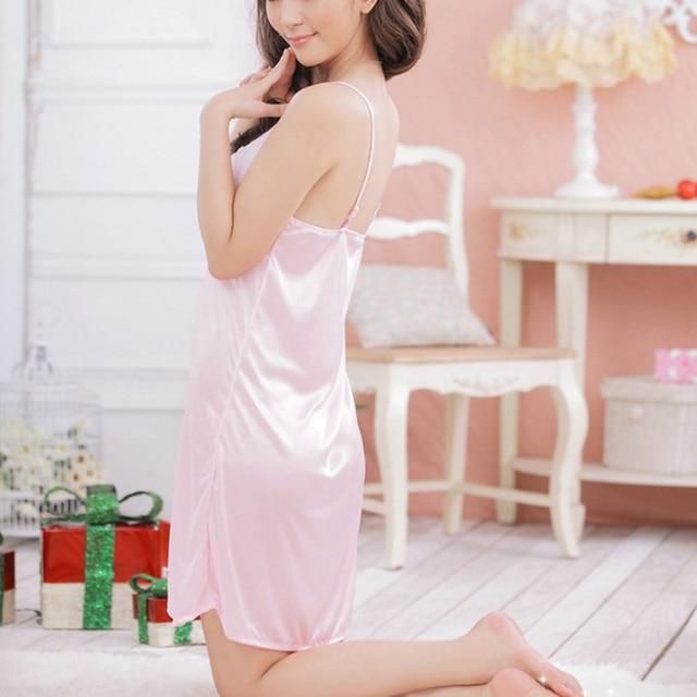 Lace Nightgowns Women Large Size Sling Sexy Sleepshirts Home Ladies V-Neck Night Dress Summer Sleepwear Free Shipping Sale 5