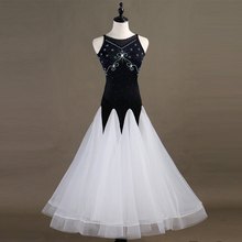 2019 New Ballroom Waltz Dance Dress Ladys Elegant Sleeveless Dancing Costume Women Competition Dresses