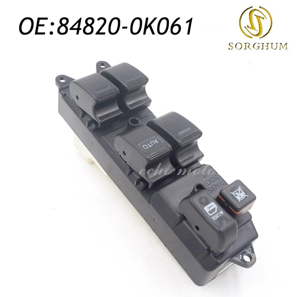 84820-0K061 Front RH Electric Window Master Control Switch For Toyota Hilux New