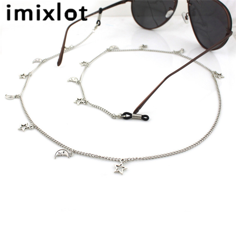 3f1c785d1d5 IMIXLOT Neck Cord Strap Rope Fashion Moon Star Women Eyeglass Reading Glasses  Spectacles Sunglasses Eyewear Eyeglass