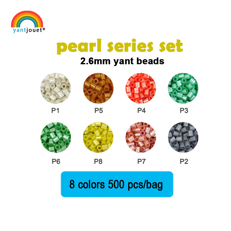 Yantjouet 2.6mm Pearl Series Set 8 Color 4000pcs For Kid Hama Perler Bead Diy Puzzles High Quality Handmade Gift Children Toy