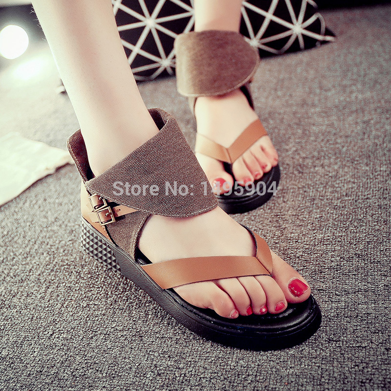 2015 new spring and summer roman girl channel shoes korean
