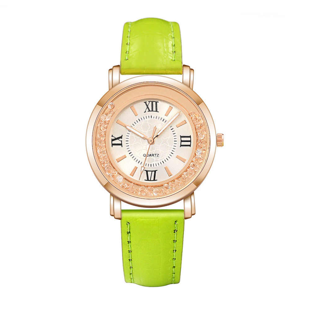 Fashion Ladies Retro Peacock Bracelet Sapphire Simulation Quartz Watch Women Drifting diamond Leather Strap Wristwatch dress 40Q