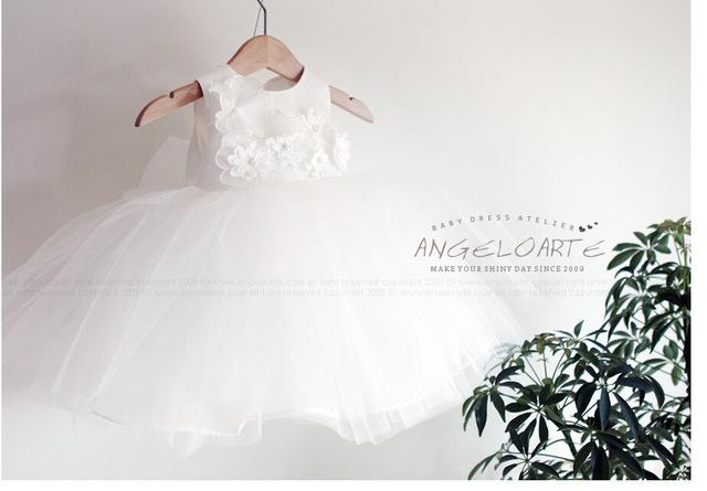 Apliques vestidos de niña recién nacida princesa infantil del bebé del bautizo vestidos de cumpleaños 1 años dress vestido infantil para 0-2 años