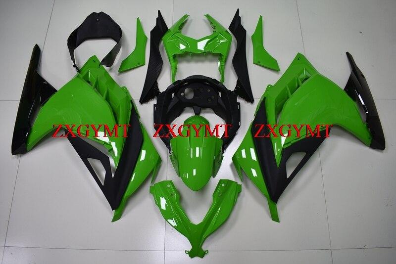 Abs Fairing for EX300 2013 - 2017 Full Body Kits for Kawasaki Zx300r 13 14 Green Black Fairings for Kawasaki Zx300r 2014Abs Fairing for EX300 2013 - 2017 Full Body Kits for Kawasaki Zx300r 13 14 Green Black Fairings for Kawasaki Zx300r 2014