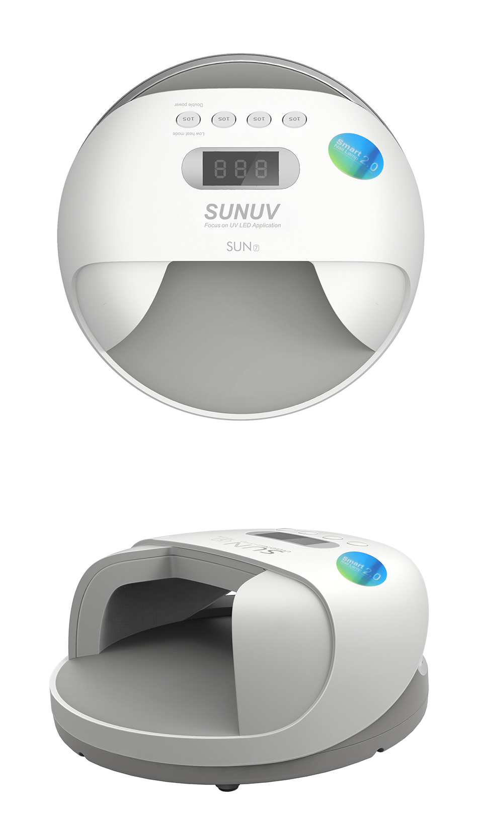 SUNUV SUN7 Nagel Lampe 48 Watt Nagel Trockner für Gel Lack mit 30 ...