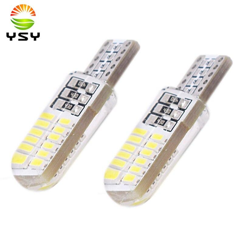 100x T10 194 2825 WY5W W5W 4014 LED Silica Gel Waterproof Wedge Light 501 Silicone Shell