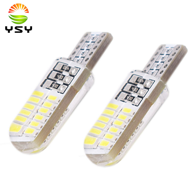 <font><b>100x</b></font> <font><b>T10</b></font> 194 2825 WY5W W5W 4014 LED Silica Gel Waterproof Wedge Light 501 Silicone Shell Car Reading Dome Lamp Auto Parking Bulb image